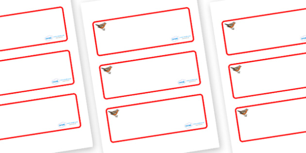 Chaffinch Themed Editable Drawer-Peg-Name Labels (Blank) - Themed Classroom Label Templates, Resource Labels, Name Labels, Editable Labels, Drawer Labels, Coat Peg Labels, Peg Label, KS1 Labels, Foundation Labels, Foundation Stage Labels, Teaching La