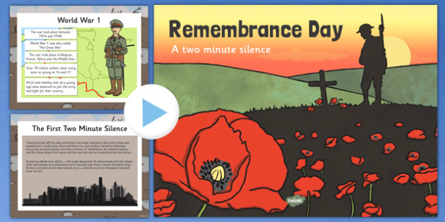 Remembrance Day Two Minute Silence PowerPoint - remembrance day, two minute silence, powerpoint