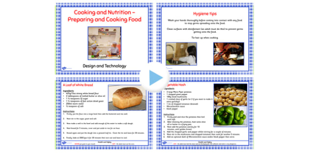 Preparing and Cooking Savoury Dishes PowerPoint - cook, recipes