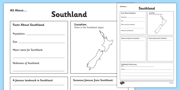 All About Southland Writing Frame - Southland, Anniversary, city, research