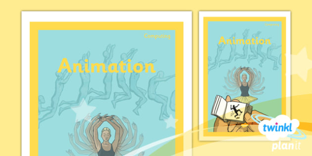 PlanIt - Computing Year 4 - Animation Unit Book Cover - planit, book cover, computing, year 4, animation