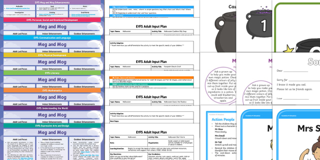 EYFS Bumper Planning Pack to Support Teaching on Meg and Mog