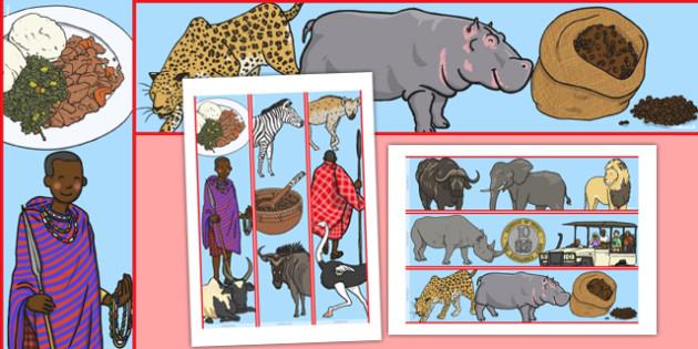Sensational Safari Kenya Display Borders - africa, nature, science, topic, habitat, outside, animals, wild, early years, ks1, key stage 1