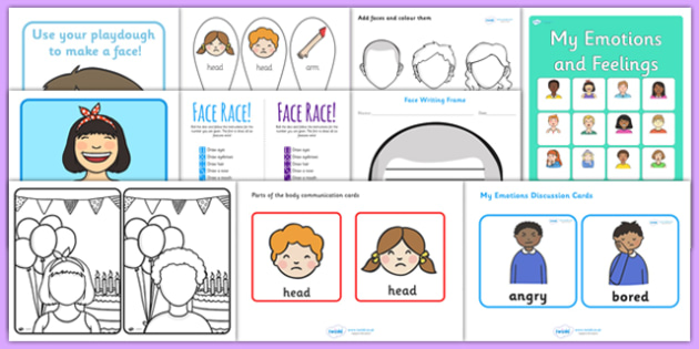 Emotions Activity Pack - feelings, ourselves, all about me, games