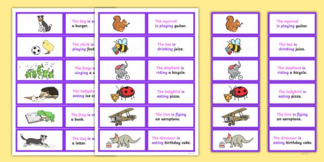 SVO Picture Description Cards Unusual Sentences Set 2 - unusual