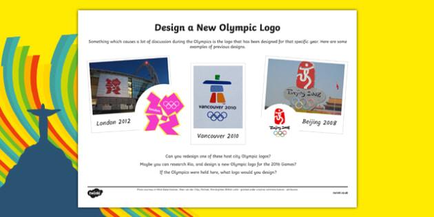 The Olympics Design a Logo Activity Sheet - the olympics, design a logo, activity, worksheet
