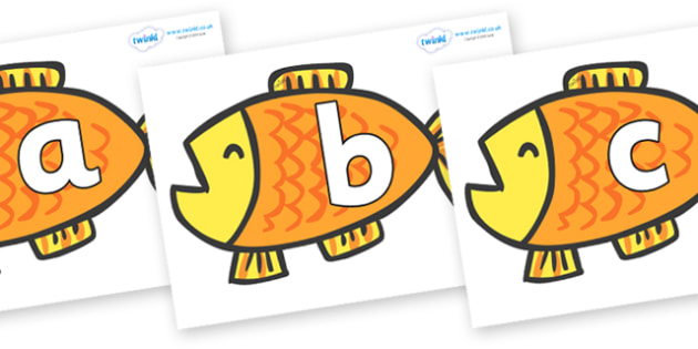 Phoneme Set on Goldfish to Support Teaching on Brown Bear, Brown Bear - Phoneme set, phonemes, phoneme, Letters and Sounds, DfES, display, Phase 1, Phase 2, Phase 3, Phase 5, Foundation, Literacy