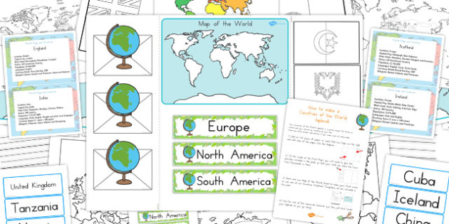 Countries of the World Lapbook Creation Pack - Country, Pack