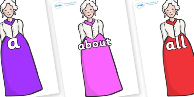 100 High Frequency Words on Dames - High frequency words, hfw, DfES Letters and Sounds, Letters and Sounds, display words