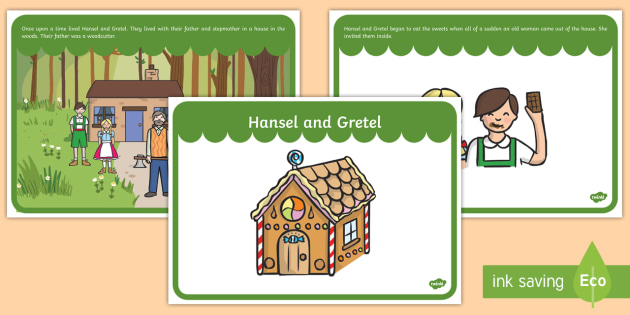 Hansel and Gretel Story Sequencing - Hansel and Gretel, Brothers Grimm, sequencing, witch, Hansel, Gretel, gingerbread house, fairytale, traditional tale, woodcutter, forest, story, story sequencing, story resources,