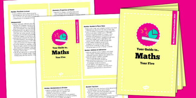 2014 Curriculum Cards Year 5 Maths - new curriculum, planning