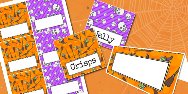 Halloween Party Food Labels - parties, celebrations, festivals