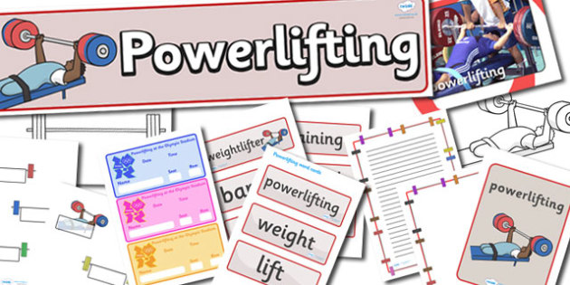 The Paralympics Powerlifting Resource - Powerlifting, weights, Paralympics, sports, wheelchair, visually impaired, pack, resource, resources, 2012, London, Olympics, events, medal, compete, Olympic Games