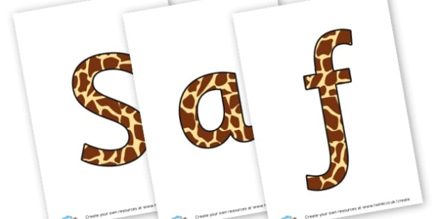 Safari lettering - display lettering - On Safari Display Primary Resources, Safari,  Display,  Posters