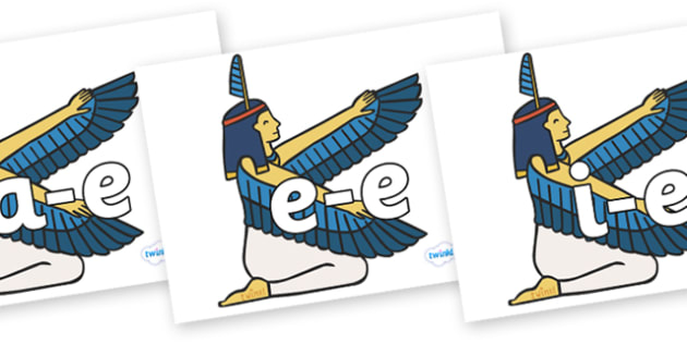 Modifying E Letters on Egyptian - Modifying E, letters, modify, Phase 5, Phase five, alternative spellings for phonemes, DfES letters and Sounds