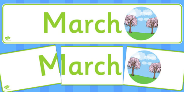 March Display Banner - march, display banner, display, banner, months, year