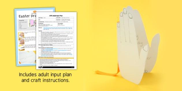 Easter Prayer Card Craft EYFS Adult Input Plan And Craft Pack