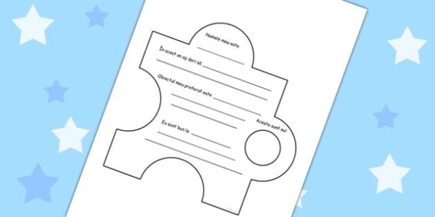 Puzzle cu Noua Clasa - desenat, elevi noi,  inceput de an scolar, Romanian