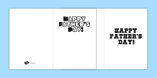 Fathers Day Design a Card Template - cards, gifts, father, dad