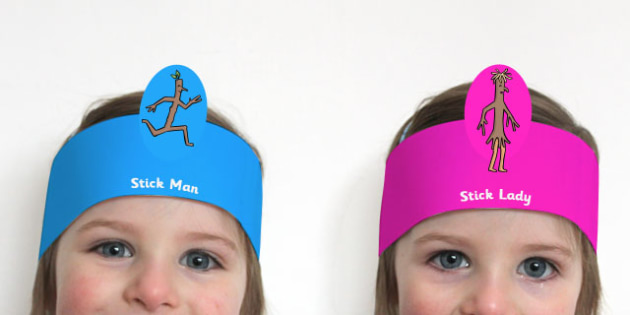 Role Play Headbands to Support Teaching on Stick Man - roleplay, props, story book