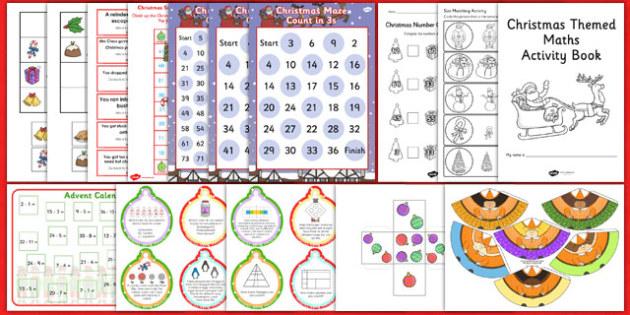 KS1 Christmas Maths Activity Pack - ks1, christmas, activity