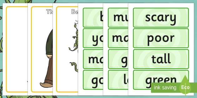 Jack And The Beanstalk Character Describing Words Match Activity