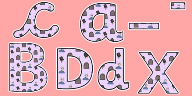 Elizabeth Fry Themed Display Lettering  - elizabeth fry, display lettering, lettering, lettering for display, themed lettering, classroom display, display