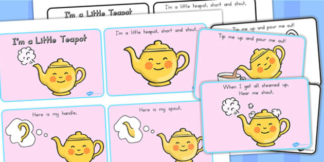 I'm a Little Teapot Story Sequencing - Teapot, Story