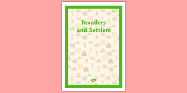 Invaders and Settlers Book Cover - invaders and settlers, book cover, history, ks2