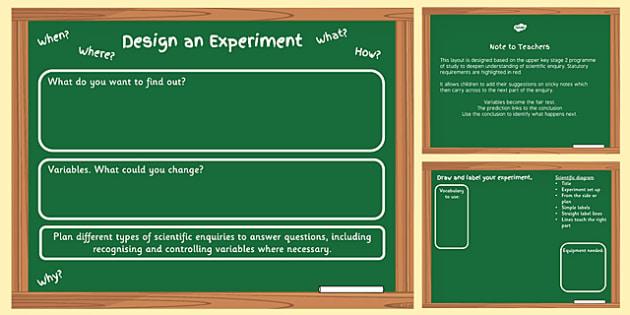 Scientific Enquiry Planning Template - science, ks2