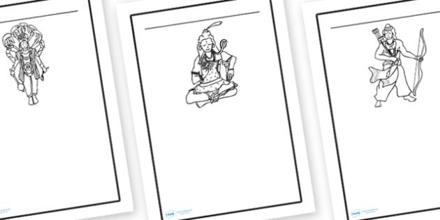 Hindu Writing Frames - writing frame, frame, writing, hindu, hindu writing frames, writing aid, writing template, template, literacy