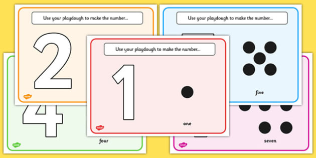 Simple Number Playdough Mats (1-10) - Playdough mat, playdough resources, numeracy, numbers, playdough