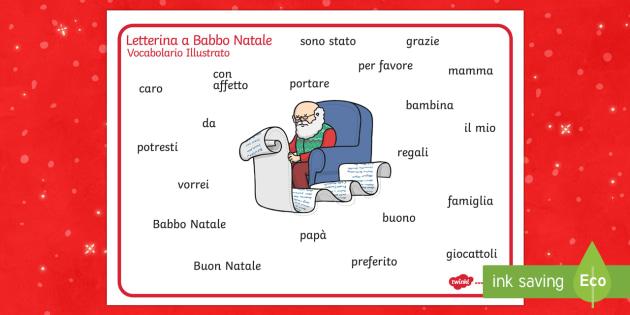 Letterina a Babbo Natale Vocabolario Illustrato - letterina a babbo natale, vocabolario illustrato, natale, natalizio, scrittura, indipendente, buone