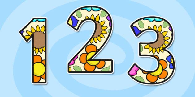 Flower A4 Display Numbers - flower, a4, display numbers, display
