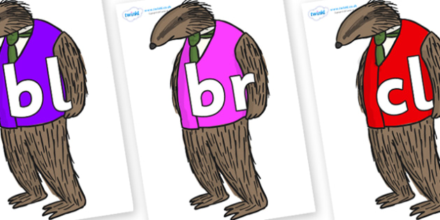 Initial Letter Blends on Badger to Support Teaching on Fantastic Mr Fox - Initial Letters, initial letter, letter blend, letter blends, consonant, consonants, digraph, trigraph, literacy, alphabet, letters, foundation stage literacy