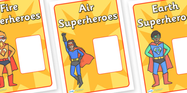 Editable Superhero Group Signs - editable, superhero, group signs