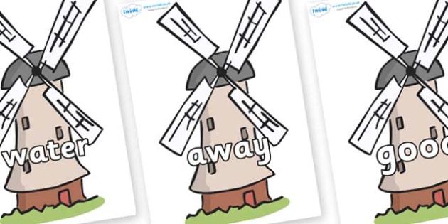 Next 200 Common Words on Windmills - Next 200 Common Words on  - DfES Letters and Sounds, Letters and Sounds, Letters and sounds words, Common words, 200 common words