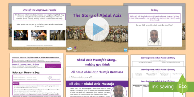 Holocaust Memorial Day Learning From a Story Lesson Pack Two - Holocaust Memorial Day