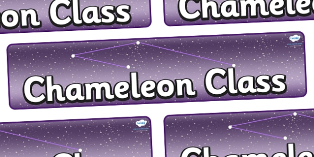Chameleon Star Constellation Themed Classroom Display Banner - Themed banner, banner, display banner, Classroom labels, Area labels, Poster, Display, Areas