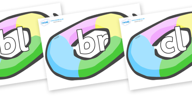 Initial Letter Blends on Inflatable Rings - Initial Letters, initial letter, letter blend, letter blends, consonant, consonants, digraph, trigraph, literacy, alphabet, letters, foundation stage literacy