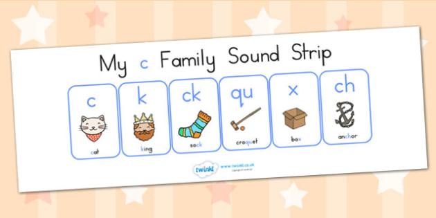 My C Family Sound Strip - sound family, visual aid, literacy