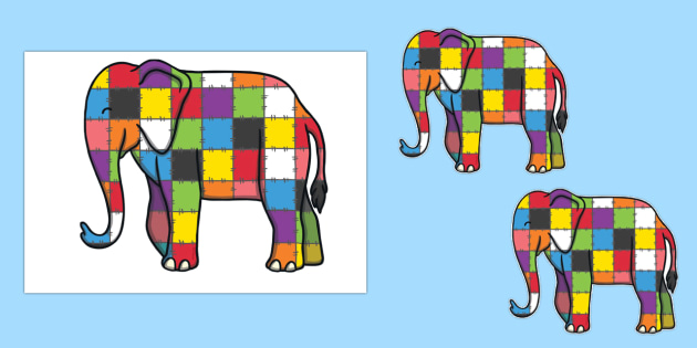 Editable Signs to Support Teaching on Elmer - elephant, display, early years, KS1, key stage 1