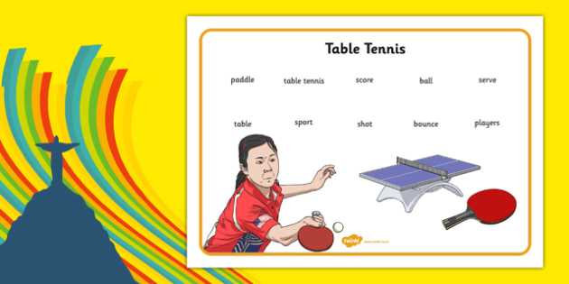The Olympics Table Tennis Word Mat - the olympics, rio olympics, 2016 olympics, rio 2016, table tennis, word mat
