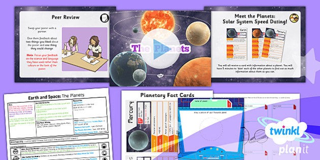 PlanIt - Science Year 5 - Earth and Space Lesson 2: The Planets Lesson Pack