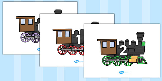 Numbers 0-50 on Trains - 0-50, foundation stage numeracy, Number recognition, Number flashcards, counting, number frieze, Display numbers, number posters