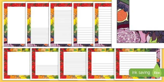Harvest Festival Page Border Pack