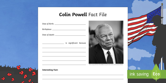 Colin Powell Significant Individual Writing Frames