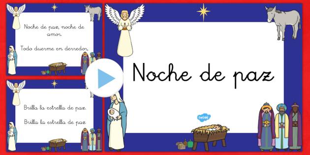 Presentación de la letra de Noche de Paz - navidad, canciones, tradición