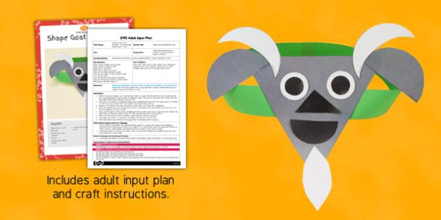Shape Goat Headband Craft Adult Input Plan and Resource Pack - shape, goat, headband, craft, adult input, plan, resource, pack