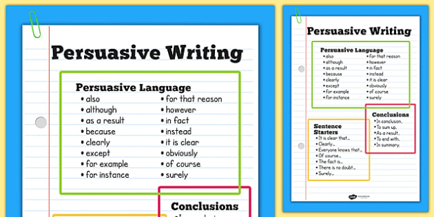 persuasive devices in writing
